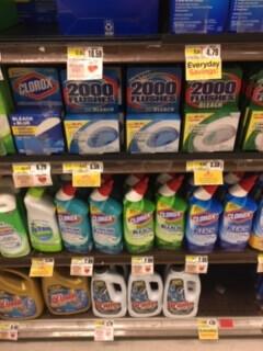 スーパーの洗剤コーナー