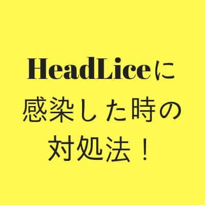 headliceに感染した時の対処法